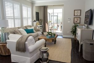 Cottage Living Room With Carpet, Buchanan Roll Arm Slipcovered Sofa  Collection, Classic White Plantation Part 96