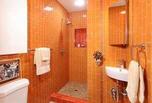 orange bathroom. 4 tags Contemporary 3 Bathroom with Emser Tile Random Sized Travertine  Pebble in Beig Orange Ideas Design Accessories Pictures Zillow
