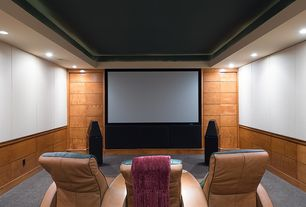 Awesome 1 Tag Modern Home Theater With Carpet, High Ceiling Part 17