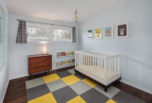 Modern Nursery With Hardwood Floors