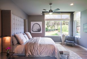 Contemporary Master Bedroom With Flush Light By Shoberg