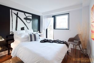 contemporary guest bedroom with laminate floors french 11228 | ispdad1kgqftv
