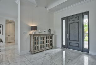Transitional Entryway With Complex Marble Tile Floors, High Ceiling, Crown  Molding, Jeld