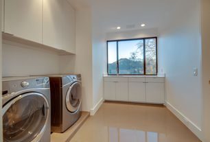 3 Tags Contemporary Laundry Room With Built In Bookshelf, Concrete Tile,  Daltile Cement Tile In Part 92