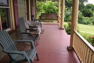 4 Tags Traditional Porch With Forever Phat Tommy Recycled Deluxe Folding  Adirondack Chair, Wrap Around Porch,
