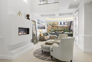 Contemporary Living Room With Limestone Tile Floors Colin Arm Chair By Safavieh Built