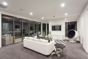 Modern Living Room With Carpet