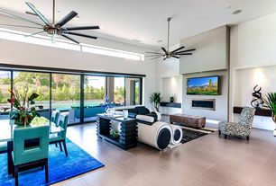 Contemporary Living Room With Ceiling Fan, Cement Fireplace, Home Creek  Bradford Faux Leather Part 51