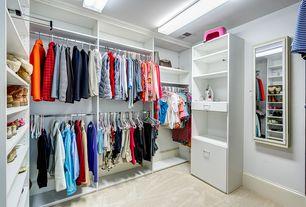 Contemporary Closet With Carpet, Flush Light, High Ceiling,  Lifeproof Carpet   Pagliuca
