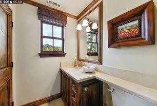 craftsman powder room with aymeric bamboo roman shade wdmg1661 brushed nickel sussex 2 light bathroom - Craftsman Bathroom Ideas