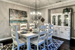 1 Tag Traditional Dining Room With Carpet, Hardwood Floors, High Ceiling,  Crown Molding, Pendant