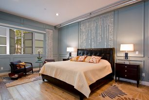 gray bedroom design ideas with wainscoting - Wainscoting Design Ideas
