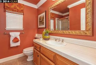 4 tags traditional full bathroom with inset cabinets limestone tile floors large ceramic tile flat