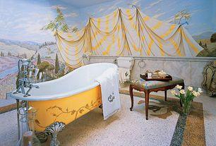 Traditional Master Bathroom With Clawfoot Bathtub Terrazzo Floor Simple Granite Floors Master Bathroom