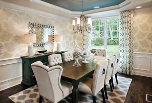 Luxury Transitional Dining Room Design Ideas & Pictures   Zillow ...