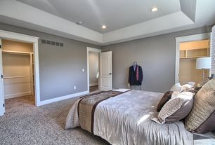 Transitional Master Bedroom With High Ceiling Carpet Wholehearted Ii Color Ivory Dust Twist