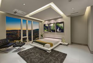 2 tags modern master bedroom with carpet concrete floors high ceiling pavilion exposition chair