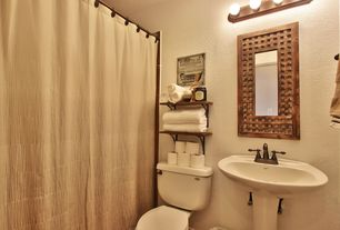 Transitional Full Bathroom With Pfister Lg Rpy Tuscan Bronze Portola Centerset Bathroom Faucet With Metal