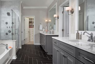 Master Bathroom Grey luxury master bathroom design ideas & pictures | zillow digs | zillow