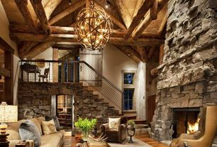 custom stone fireplaces. Eclectic Living Room with flush light  Custom Rustic Stone Fireplace Hardwood floors Exposed Design Ideas Pictures Zillow Digs