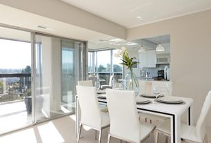 3 Tags Modern Dining Room With Flush, High Ceiling, Breakfast Bar,  Limestone, Pendant Light