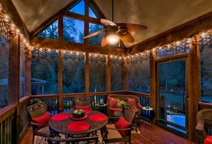 Rustic Porch With French Doors Amp Exterior Tile Floors In