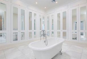 Superb 2 Tags Traditional Master Bathroom With Clawfoot Bathtub, Marley Flat Panel  Cabinet Door, High Ceiling,