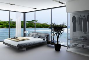 modern master bedroom with built-in bookshelfhome stratosphere