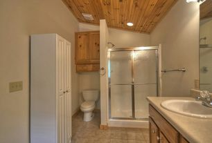 rustic 34 bathroom with silver framed shower enclosure with a 14 - Bathroom Ideas Rustic