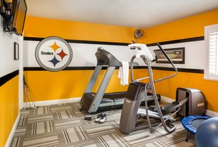 Home Gym Design Ideas 27 luxury home gym design ideas for fitness buffs 3 Tags Contemporary Home Gym With Carpet High Ceiling
