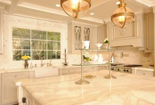 4 Tags Traditional Kitchen With Walker Zanger Calacata Borghini Marble,  Victorian Hotel Pendant