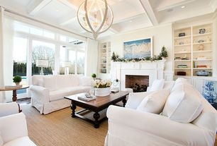 Country Living Room With Pottery Barn Color Bound Natural Sisal Rug Chino,  PB Basic