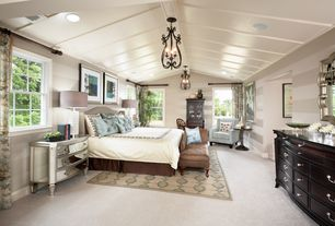 Traditional Master Bedroom With Maxim 20742cu Colonial Umber 3 Light 11 Wide Pendant From The