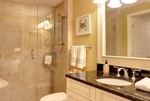 5 Tags Traditional 3 4 Bathroom With Frameless Shower Doors By Dulles Glass And Mirror Flat