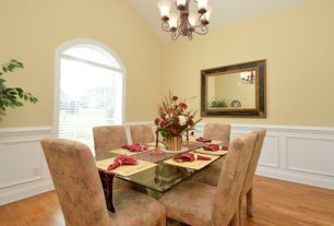 3 Tags Eclectic Dining Room With Arched Window, Hardwood Floors, Custom  Wainscoting (Design KLMA