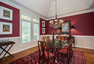 4 Tags Traditional Dining Room With Chandelier Crown Molding High Ceiling Chair Rail Hardwood