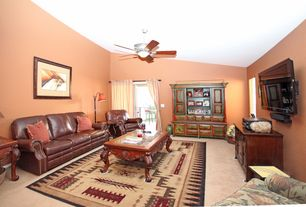 Sherwin-Williams Certain Peach Living Room Ceiling Fan | Zillow Digs ...