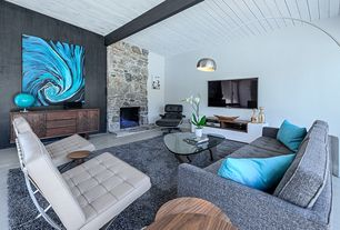 Modern living room with concrete floors by neil curry zillow digs zillow - Interieurs design ...