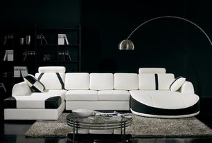 3 Tags Contemporary Living Room With T57B Ultra Modern White And Black Leather Sectional Sofa Concrete Floors