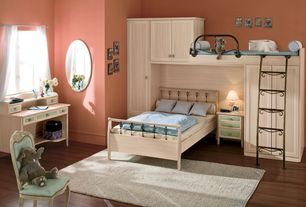 traditional kids bedroom with hardwood floors built in bookshelf carpet high ceiling - Luxurious Bed Designs