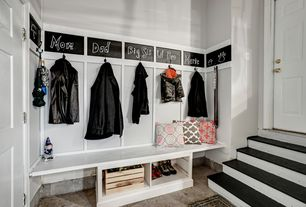 traditional mud room with black chalkboard paint massey double hook - Mudroom Design Ideas