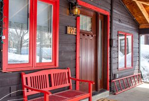 Rustic Porch With Exterior Stone Floors Amp Wrap Around