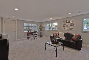 1 Tag Transitional Living Room With High Ceiling Carpet