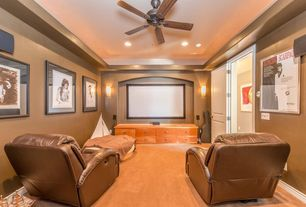 1 tag traditional home theater with built in bookshelf ceiling fan wall sconce high - Home Theater Design Ideas