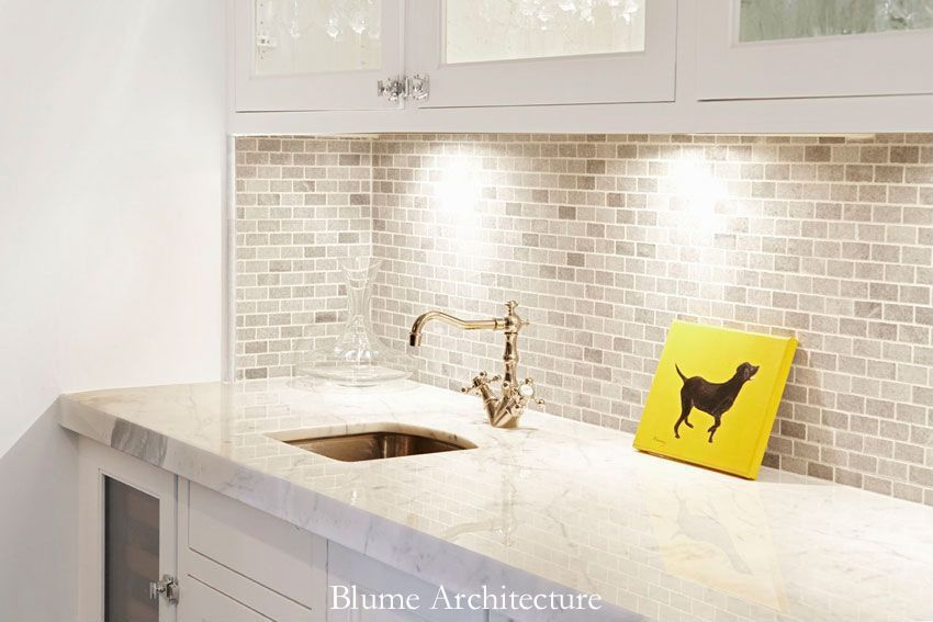 White Stone Backsplash Kitchen blume architecture boards - zillow digs | zillow