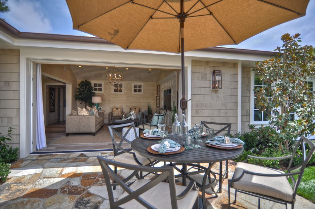 Contemporary Patio with exterior stone floors by ... on Patio Designs For Straight Houses id=56207