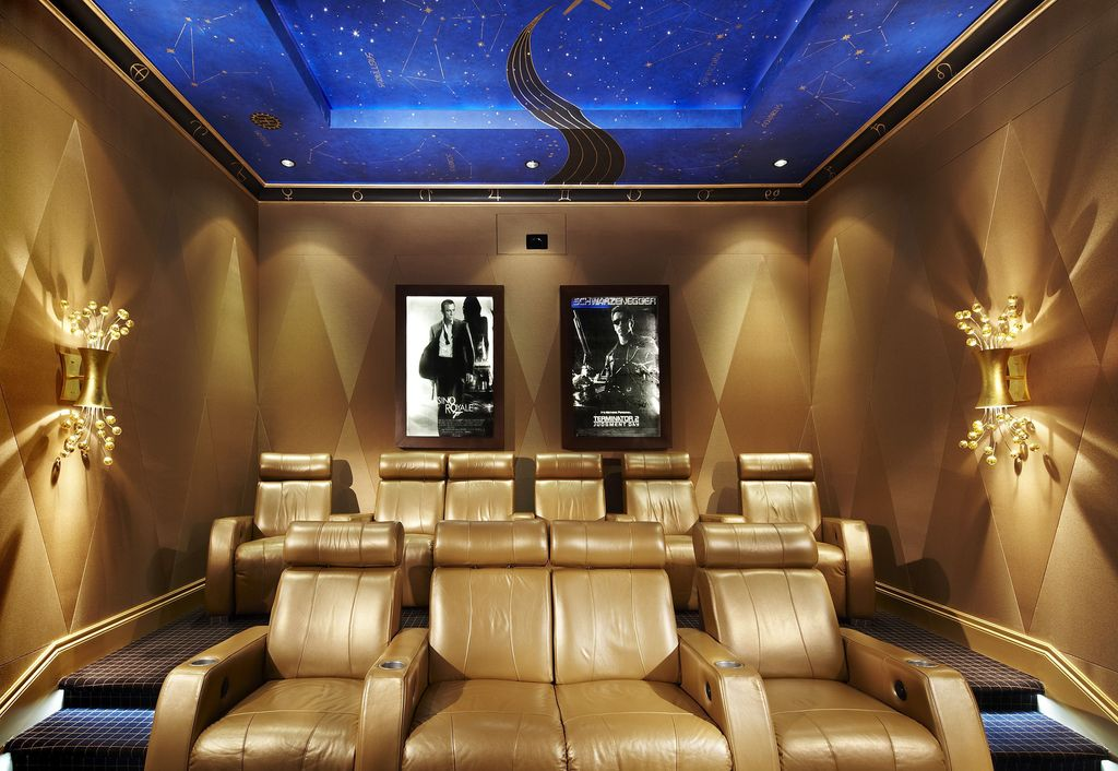 Art Deco Home Theater by Arnold Schulman Design GroupZillow