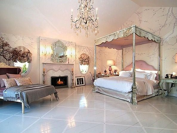 Art Deco Master Bedroom With The Mirrored Bed Company REINA MIRRORED FOUR POSTER