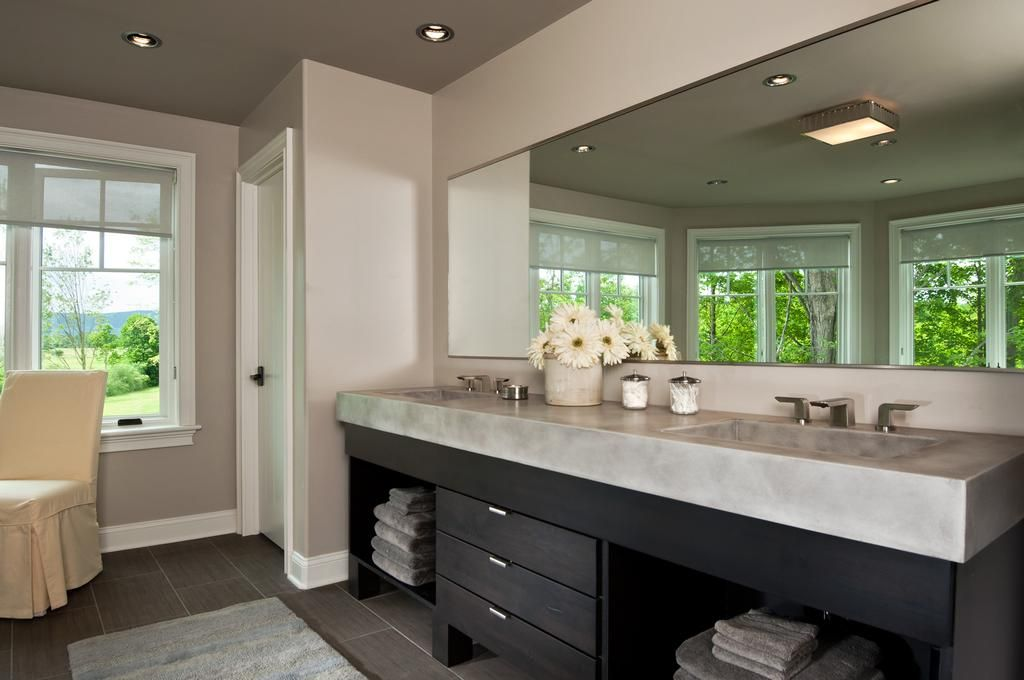 Modern master bathroom with master bathroom undermount for Modern master bathroom