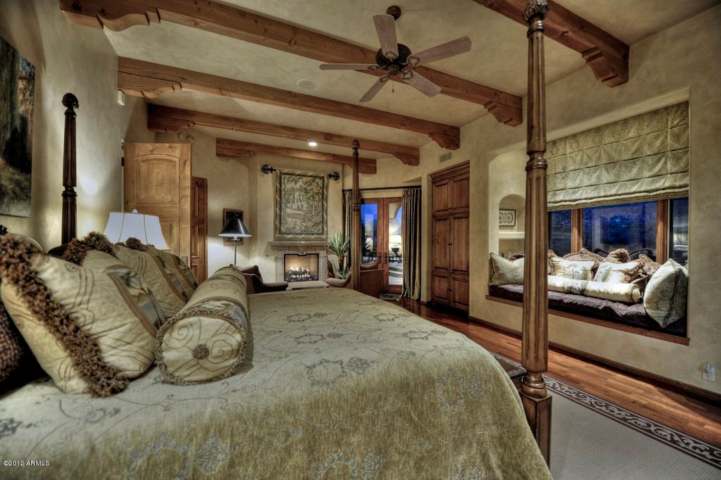 Rustic Master Bedroom With Hardwood Floors Ceiling Fan Zillow Digs Zillow